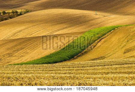 Very beautiful landscapes on south Moravia, so called Czech Tuscany. Amazing colors in almost every season and great lines and curves seems like waves.