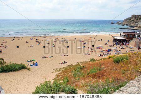 A View Of A Golden Bay, Malta
