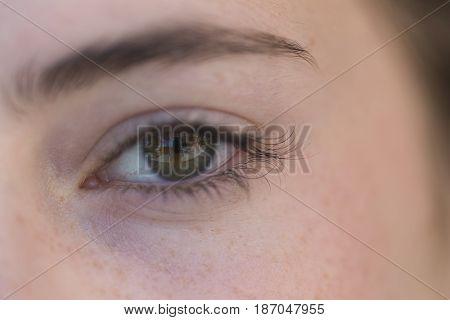 Eye Of A Young Girl .