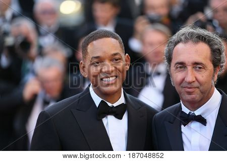 Will Smith attends the 'Ismael's Ghosts (Les Fantomes d'Ismael)' screening and Opening Gala during the 70th annual Cannes Film Festival at Palais  on May 17, 2017 in Cannes, France.