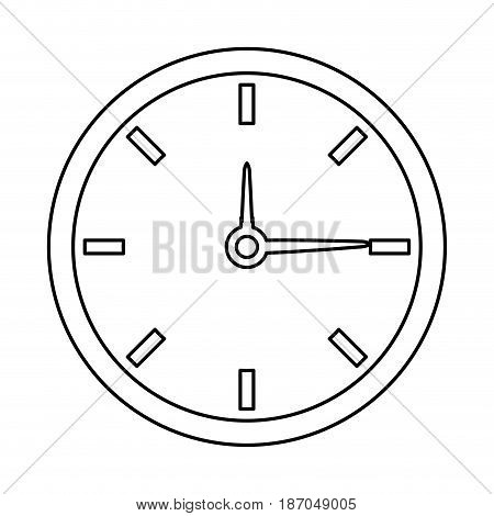 clock time watch hour date minute vector illustration