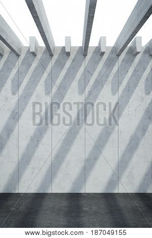 abstract architectural concrete composition, 3d rendering