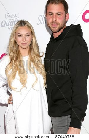 LOS ANGELES - MAY 17:  Corinne Olympios, Jordan Gielchinsky at the OK! Magazine Summer Kick-Off Party at the W Hollywood Hotel on May 17, 2017 in Los Angeles, CA