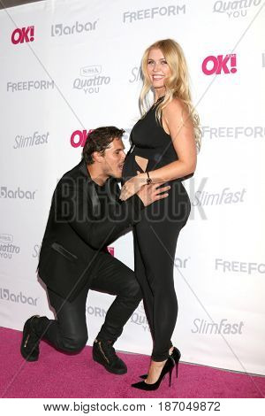 LOS ANGELES - MAY 17:  Gleb Savchenko, Elena Samodanova at the OK! Magazine Summer Kick-Off Party at the W Hollywood Hotel on May 17, 2017 in Los Angeles, CA