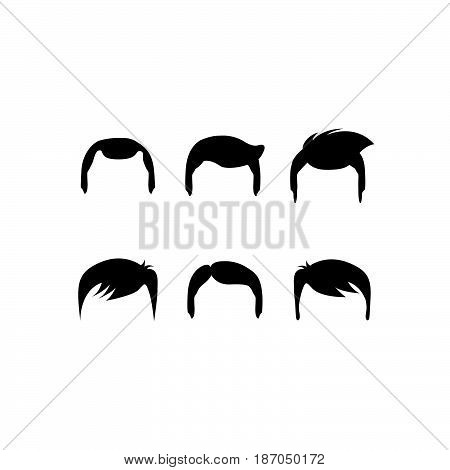 a black and white set of haircuts