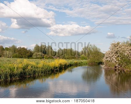 An Incredible River Running Through The Country Location And Landscape Outside In The Country With R