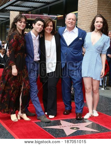 LOS ANGELES - MAY 15:  Amanda, Teddy, Corday, Ken, and Kimberly Corday at the Ken Corday Star Ceremony on the Hollywood Walk of Fame on May 15, 2017 in Los Angeles, CA
