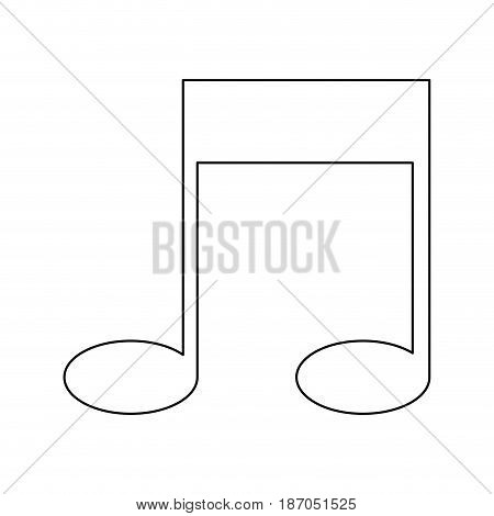 note music sound melody icon vector illustration