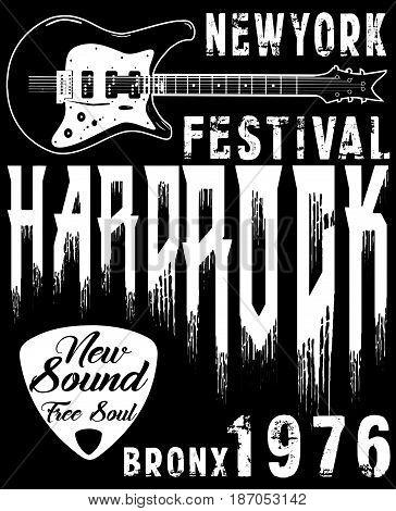 Hard Rock Music Poster fashion style new art