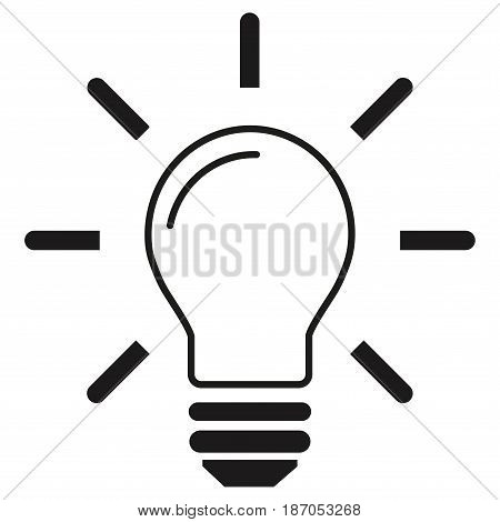 Pictogram - Bulb, Idea, Light bulb, Lamp, Electric bulb - Object, Icon, Symbol