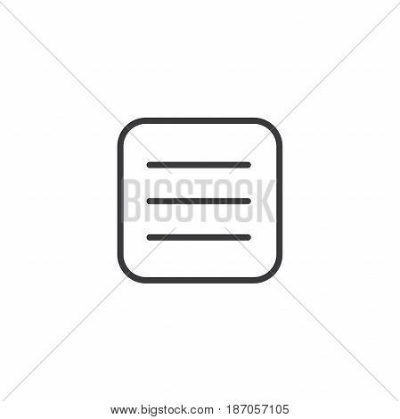 Flat Menu Icon Illustration For Website Navigation.