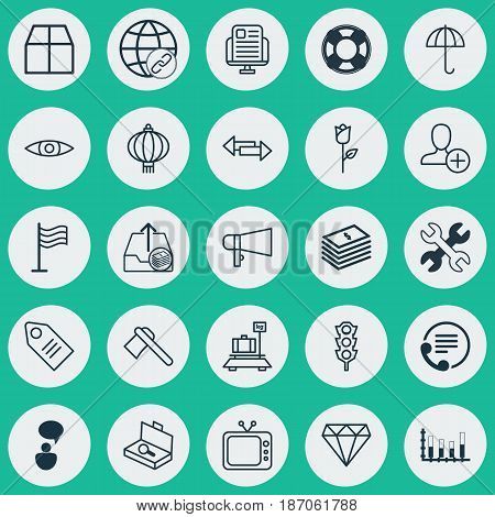 Set Of 25 Universal Editable Icons. Can Be Used For Web, Mobile And App Design. Includes Elements Such As Television, Pin, Suitcase Checking And More.