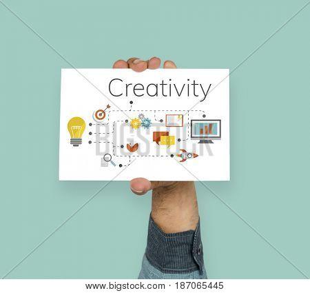Ideas invention and creative icon graphic design