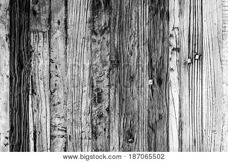 Wooden ancient table lumber closeup