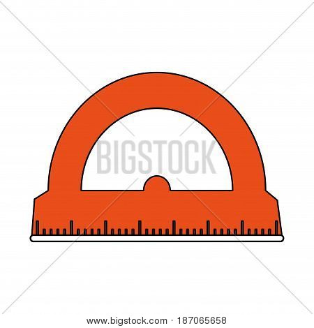 color silhouette image cartoon orange rule conveyor for school vector illustration