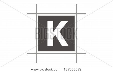 This image describe about Box Letter K