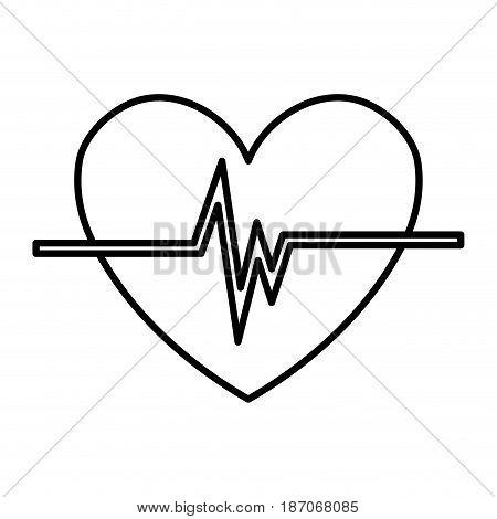 heart cardio isolated icon vector illustration design