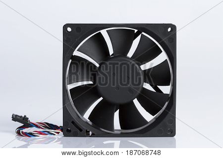 The fan's computer with white background for background.