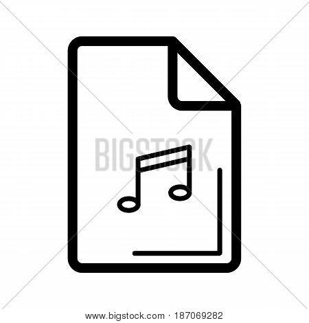 Audio file icon on white background. Vector illustration. eps 10