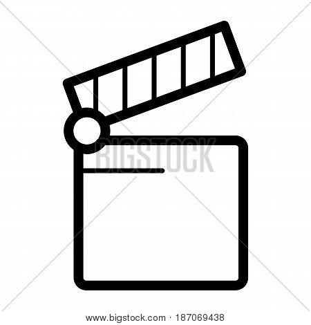 Cinema icon. Movie icon vector isolated on white. eps 10