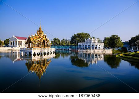 Bang Pa-In Royal Palace known as the Summer Palace. Located in Bang Pa-In district Ayutthaya Province THAILAND