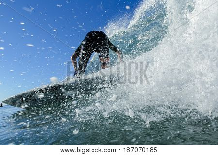 Taken of a surfer in dana point california