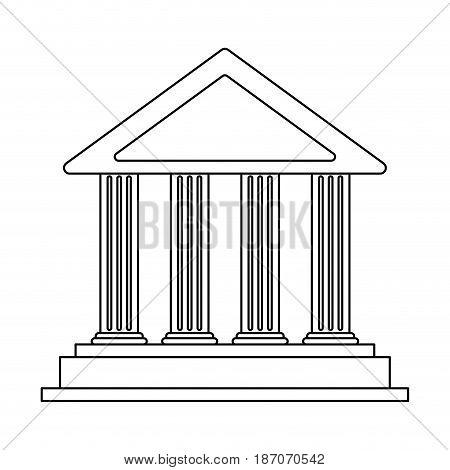 ancient greek building icon image vector illustration design  single black line