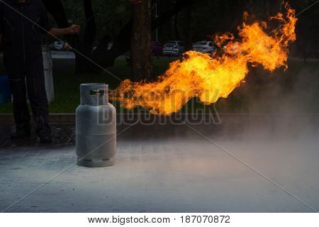Gas Flame From Gas Tank