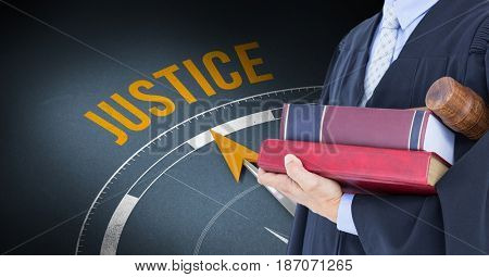 Digital composite of Composite image of justice