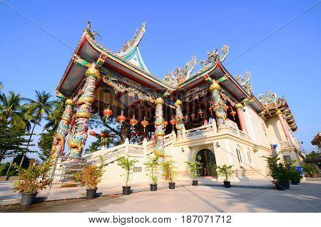 exterior the shrine chinese beliefs religious bangkok thailand