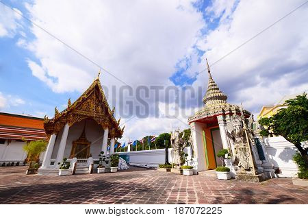 Temple of Reclining Buddha Wat Pho Bangkok Thailand