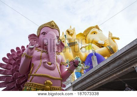 Big Ganesha with White sky Ganesha Lord of Success