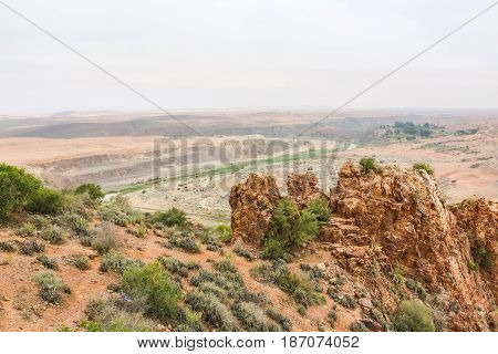 Yellow Mountains And Beautiful Panoramic View