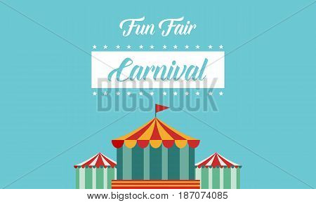 Style background carnial funfair collection vector art