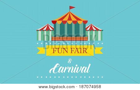 Carnival funfair and amusement park banner vector art