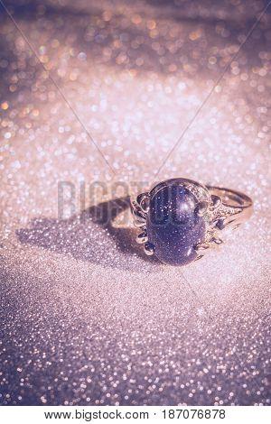 Blue Aventurine Ring