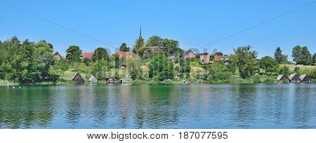idyllic Village of Wustrow in Mecklenburg Lake District,Mecklenburg-Vorpommern,Germany