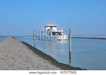 Ferry to Norderney at East Frisian Islands,North Sea,Germany