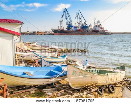 Fishing Boats On The Seashore