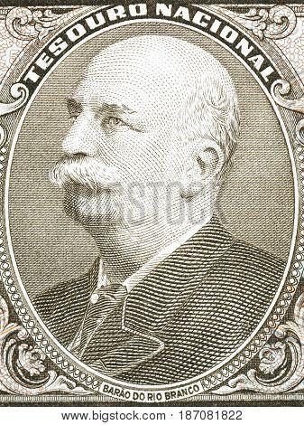 Baron of Rio Branco portrait from old Brazilian money