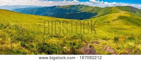 Panorama Of Carpathian Mountain Ridge