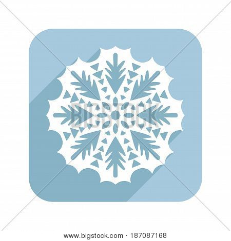 Patterned snowflake or lace doily. Flat illustration for design