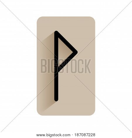 Wunjo. Runic alphabet and letters. Flat icon on white background for divination, prediction. Vector