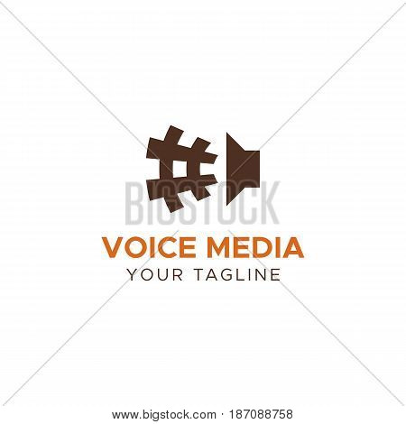 VOICE MEDIA full editable vector logo template