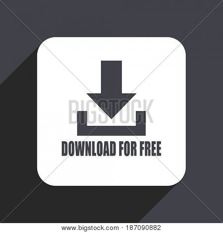 Download for free flat design web icon isolated on gray background