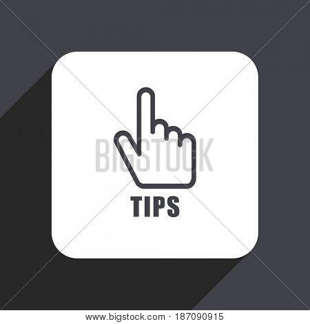 Tips flat design web icon isolated on gray background
