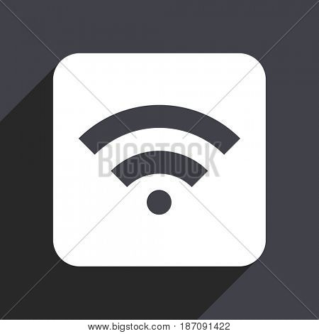 Wireless flat design web icon isolated on gray background