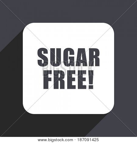 Sugar free flat design web icon isolated on gray background