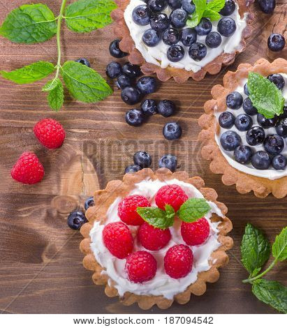 Sweet Tarts With Berries