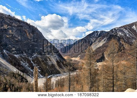 Narrow Valley Of Irkut River